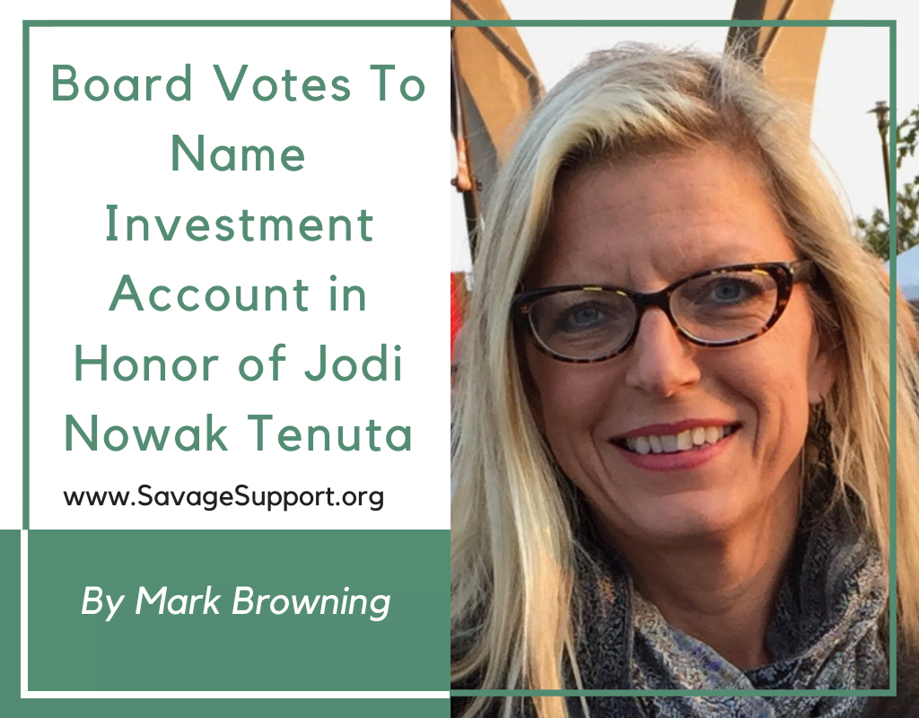 Board Votes To Name Investment Account in Honor of Jodi Nowak Tenuta